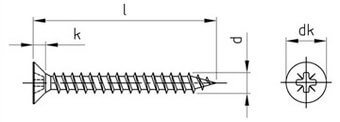SST Double countersunk head timber screws