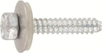 SST Cladding screws cone point, sealing washer 19 mm