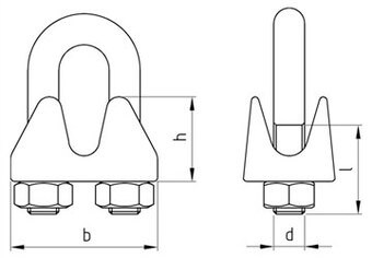 SST Wire rope clips