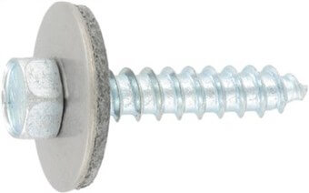 SST Cladding screws with point, sealing washer 22 mm