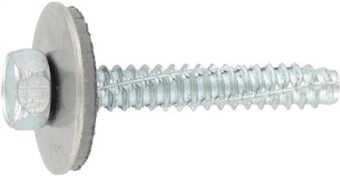 SST Cladding screws cone point, sealing washer 22 mm
