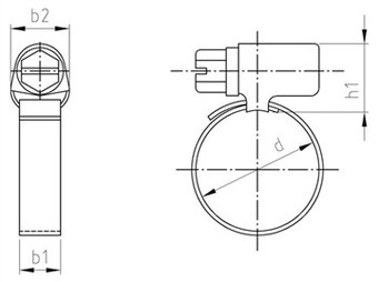 SST Hose clamps, worm gear drive
