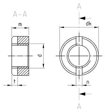 SST Slotted round Nuts