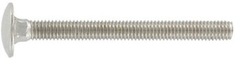 SST Carriage Bolts, full thread