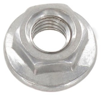SST Hexagon flange Nuts without serration