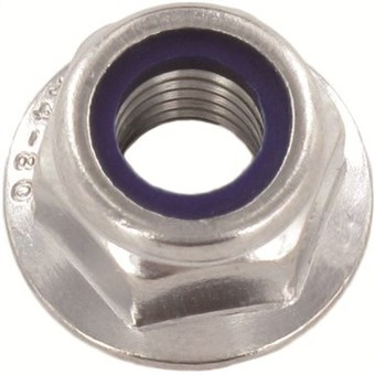 SST Self-locking hexagon flange Nuts without serration