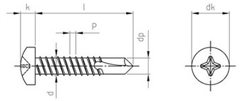 SST Self drilling screws with pan head