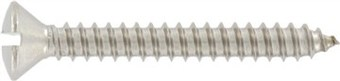 SST Slotted raised countersunk head Tapping screws
