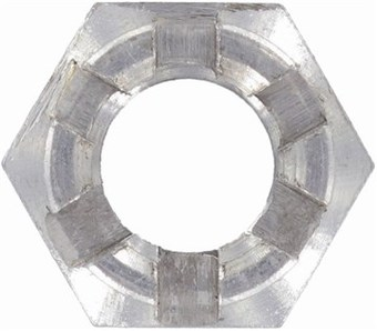 SST Hexagon slotted castle nut