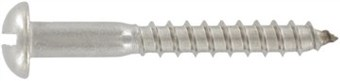 SST Slotted round head Wood screws